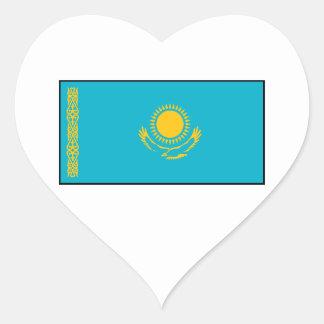 Kazakhstan – Kazakh Flag Heart Sticker
