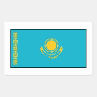 Kazakhstan – Kazakh Flag Rectangular Sticker
