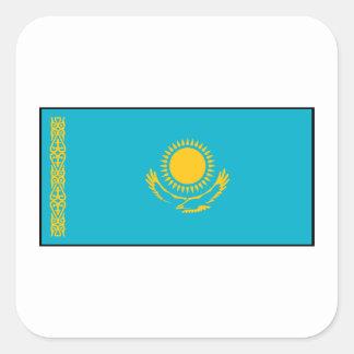 Kazakhstan – Kazakh Flag Square Sticker