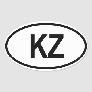 "Kazakhstan ""KZ"" Oval Sticker"