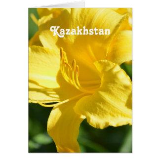 Kazakhstan Lily Stationery Note Card
