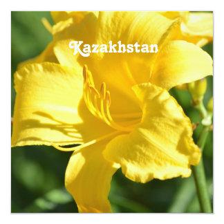 Kazakhstan Lily 5.25x5.25 Square Paper Invitation Card