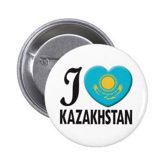 Kazakhstan Love Pinback Button