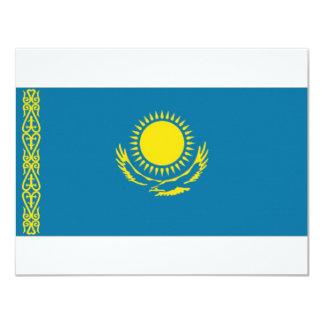 Kazakhstan National Flag 4.25x5.5 Paper Invitation Card