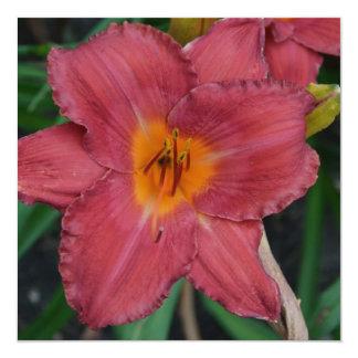 Kazakhstan National Flower 5.25x5.25 Square Paper Invitation Card