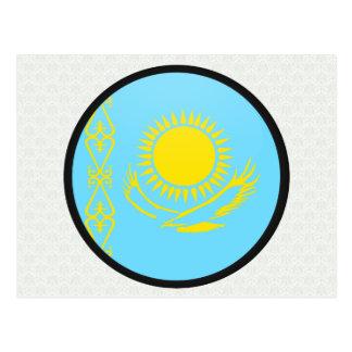 Kazakhstan quality Flag Circle Postcard