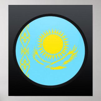 Kazakhstan quality Flag Circle Poster
