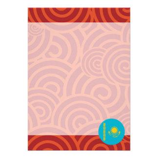 "Kazakhstan round flag 5"" x 7"" invitation card"