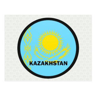 Kazakhstan Roundel quality Flag Post Card