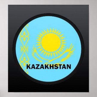 Kazakhstan Roundel quality Flag Posters