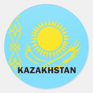 Kazakhstan Roundel quality Flag Round Stickers