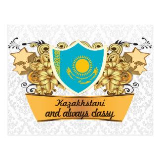 Kazakhstani con clase postales