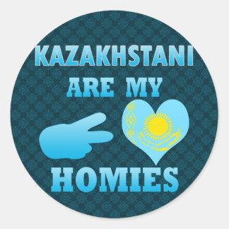 Kazakhstanis are my Homies Round Stickers