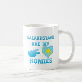 Kazakhstanis es mi Homies Taza Básica Blanca