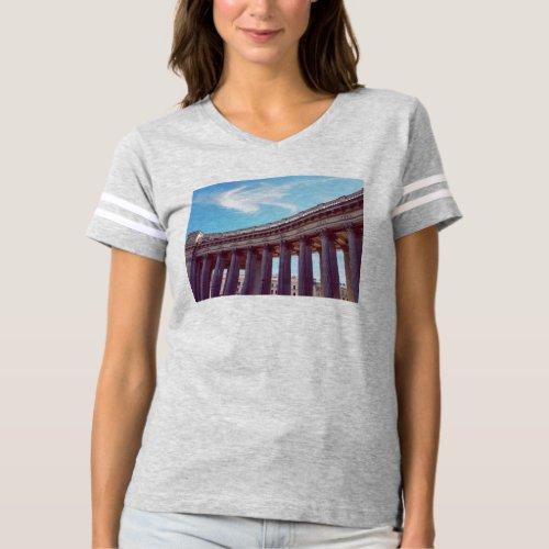 Kazan Cathedral Columns Custom Travel Photo T_shirt