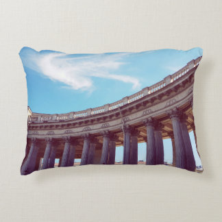 Kazan Cathedral Columns Photo Accent Pillow