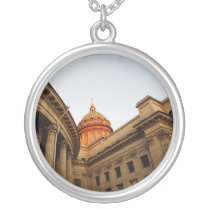 Kazan Cathedral Photo Silver Plated Necklace