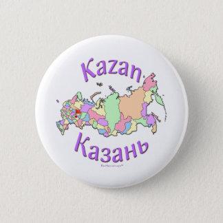 Kazan Russia Map Pinback Button