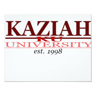 "KAZIAH UNIV. INVITACIÓN 4.25"" X 5.5"""