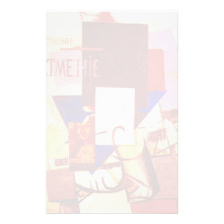 Kazimir Malevich- Composition with the Mona Lisa Customized Stationery