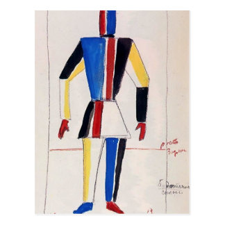 Kazimir Malevich- el atleta del futuro Tarjetas Postales