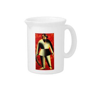 Kazimir Malevich- el segador en rojo Jarrones