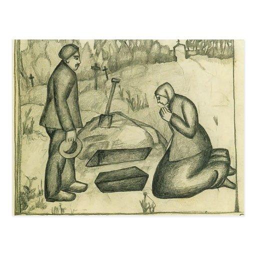 Kazimir Malevich- en el cementerio Postal