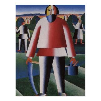 Kazimir Malevich- Haymaking Postcard