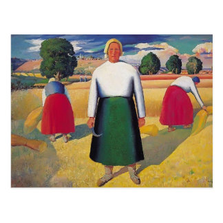 Kazimir Malevich- Reapers Postcard