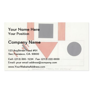 Kazimir Malevich- Speakers on Tribune Double-Sided Standard Business Cards (Pack Of 100)