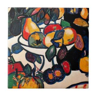 Kazimir Malevich - Still Life, 1911 artwork Small Square Tile