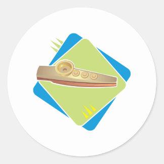 kazoo design classic round sticker