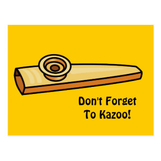 Kazoo Postcard