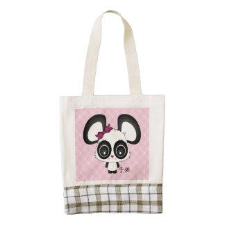 Kazue la panda bolsa tote zazzle HEART