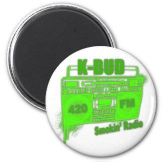 KBUD FM 2 INCH ROUND MAGNET