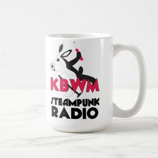 KBWM Steampunk Radio Station Coffee Mug