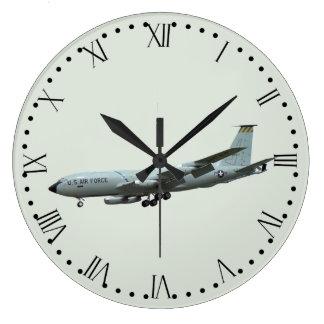 KC135A Stratotanker - Roman Dial Large Clock