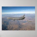 KC-10 Extender and FA 18 Hornet Poster