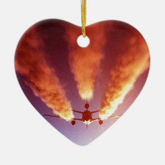 KC-10 refueling aircraft Ceramic Heart Decoration
