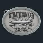 """KC-135 Stratotanker Pewter Belt Buckle<br><div class=""""desc"""">This is a Pewter Belt Buckle of KC-135 Stratotanker. KC-135 Stratotanker is a military aerial refueling aircraft.</div>"""