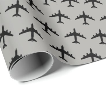 KC-135 Stratotanker Silhouette Pattern Wrapping Paper