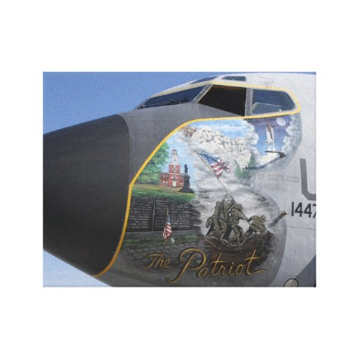 KC-135E Stratotanker with patriotic nose Canvas Print