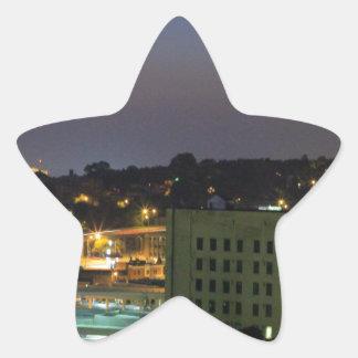 kc céntrico pegatina en forma de estrella