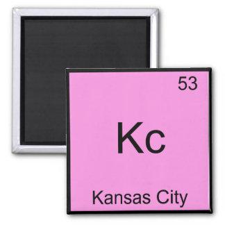 Kc - Kansas City Chemistry Element Symbol Tee 2 Inch Square Magnet