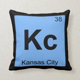 Kc - Kansas City Chemistry Periodic Table Symbol Pillow