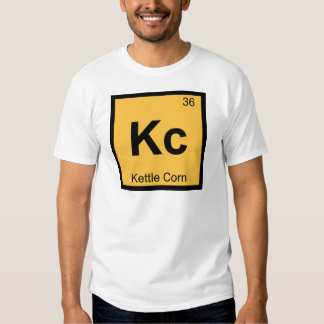 Kc - Kettle Corn Chemistry Periodic Table Symbol T Shirt
