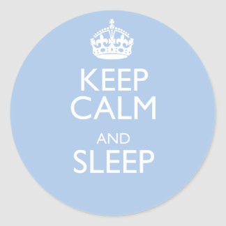 kc sleep classic round sticker