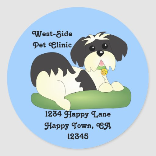 KC the Happy Pup Classic Round Sticker