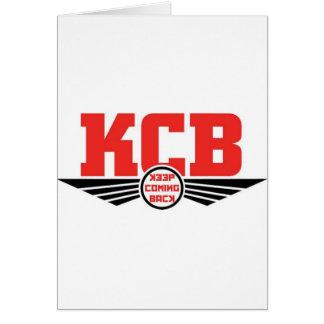 KCB - Guarde la mercancía de vuelta de la Tarjeta De Felicitación
