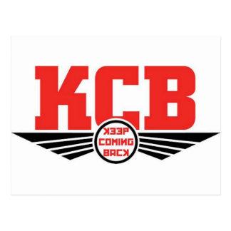 KCB - Guarde la mercancía de vuelta de la Tarjetas Postales
